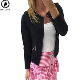 Blazers Short Coat Canada - 2017 New Plaid Women Thin Coats Short Jackets Casual Slim Blazers Suit Cardigans 2017 Female Outwear Black White Plus Size