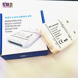 Wholesale 16Million colors RGB WW CW Wifi channels led controller smartphone control music and timer mode magic home wifi led controller