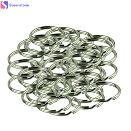 Resin Connectors Australia - 50pcs KeyRing Kay Chain Round Split Key Rings chain With Nickel Compass key ring keychain connector llaveros hombre chaveiro#3-4