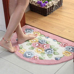 microfiber kitchen mats Australia - New Classic Bathroom Carpet Bath Mat,Anti-Slip Doormat Bath Rug Carpets,Semicircle Bedroom Kitchen Toilet Rug Mat Alfombra Living Room Pad