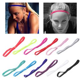 3020c4575bbfc Hair band popular elastic rope 12Styles Anti sports yoga Running headband  football non-slip hair accessories Party Favor GGA837