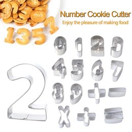 $enCountryForm.capitalKeyWord Australia - Stainless Steel 15pcs set Large Size Number Shape Cookie Cutter Cake Decorating Mold Biscuit Chocolate Stencils Tool for Baking