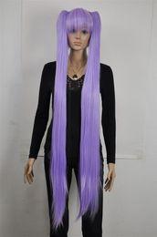 $enCountryForm.capitalKeyWord NZ - Light Purple Extra Long Straight Cosplay Lolita Lori Split Wig Ponytail