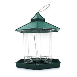 Artificial Birds For Decoration UK - European Style Wild Bird Feeder Outdoor Bird Feeders Food Container Hanging Gazebo Bird Feeder Perfect For Garden Decoration