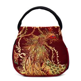 $enCountryForm.capitalKeyWord NZ - New Fashion Women Canvas Embroidery Ethnic Retro Handbag Small Bag Phone Case Pouch Zipper Canvas Handbags