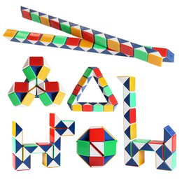 $enCountryForm.capitalKeyWord NZ - DHL 24 Paragraph Creative Magic Snake Shape Toy Game 3D Cube Puzzle Twist Puzzle Variety Magic Toy Gift