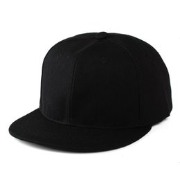 392a1d27062 Flat Bill Snapback Cap UK - Men Women s Adjustable Blank Flat Bill Plain Snapback  Cap Hats
