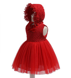 Discount cotton party dresses for toddlers - Free Shipping Lace Cotton Lining Infant Dresses 2018 New Arrival Red Baby Dress For 1 Year Girl Birthday Bow Party Gown