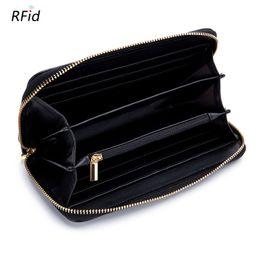 $enCountryForm.capitalKeyWord NZ - Fashion Women Leather Wallets RFID Sweet Tassel Zipper Purse for lady genuine leather cowhide Clutch Hand Bags Cell Phone Pouch