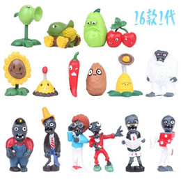 Plants Vs Zombie Figures NZ - 16pcs lot PVZ Plants vs Zombies Figures 3-7cm Plants and Zombies PVC Action Figures Collection Toys Boy Gifts