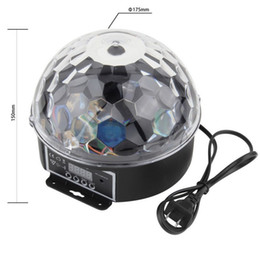 dmx512 led crystal ball Canada - BY DHL 6 LED Color Chang remote control Disco Dj Stage Lighting 18W LED RGB Crystal Magic Ball Effect Light DMX512 KTV Party