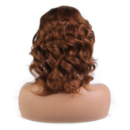 Remy human haiR shoRt wavy wig online shopping - Wavy Short Bob Wigs Lace Front Human Hair Wigs For Women Pre Plucked Brazilian Remy Hair Wigs With Baby Hair LIN MAN