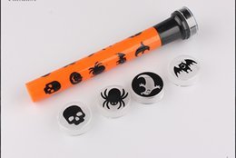 halloween small projector light flashlight pumpkin skull ghost pattern ktv haunted house horror scary whole trick props