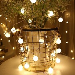 LED Lights String Ball Lights Wedding Decoration Background Bedroom Holiday  Outdoor Waterproof Copper Wire Ball Party Decor GGA444