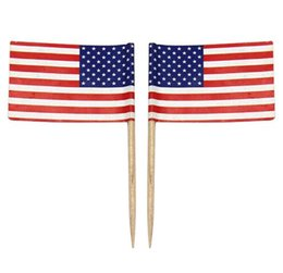 0e30a18e20fe American Stick Flags UK - Free Shipping 100pcs Mini American Flag Polyester USA  Flag Independence day