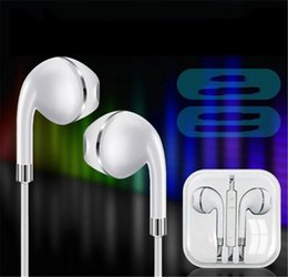 $enCountryForm.capitalKeyWord NZ - New Arrival Upgrade New for Apple Phone Earphones for Andriod with Gold ring In-Ear Earphone 3.5mm Aux DHL shipping