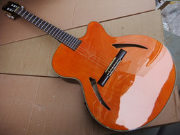 New body acoustic guitars online shopping - New Classic Acoustic Electric Guitar Made Of Soild Wood Top Quality In Orange