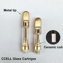 Screw penS online shopping - Newest Gold color metal Mouth Ceramic Rod Coils CE3 Cartridges Tank BUD Touch Thick Oil Vaporizer mini Atomizers O Pen Screw vape
