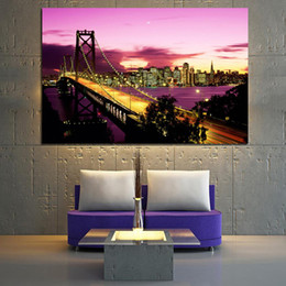 $enCountryForm.capitalKeyWord Australia - 1 Piece New York Brooklyn Bridge Landscape Canvas Painting Posters and Prints Abstract Wall Picture No Framed