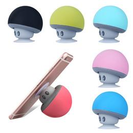Sucker mini Speaker online shopping - New arrival Mushroom Bluetooth Speaker Car Speakers with Sucker Mini Portable Wireless Handsfree Subwoofer mini speaker