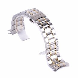 Wholesale Original Luxury Watch Band mm mm Stainless Steel Folding Clasp strap Link Bracelet Adjustable Steel Buckle Wrist WatchBand