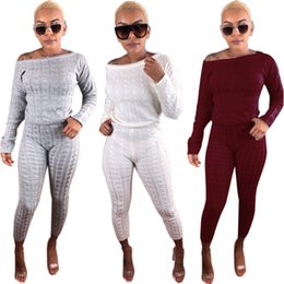 $enCountryForm.capitalKeyWord Canada - 2018 Two Piece Set Party Casual tracksuits Rib Top and Pant Set Bodycon Suit Winter Vestidos Fashion Sportsuit Club High Street Women Sets