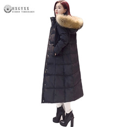 1f272fbfc170b 2017 New Winter Hooded Loose Long Down Coat Plus Size Solid Color Puffer  Jacket Goose Feather Outwear Women Down Parka okb167