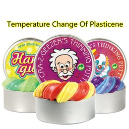 Kids putty online shopping - Creative Hand Gum Temperature Change Turns Color Slime Silly Putty light Clay Fimo Plasticine Mud Doh Toys Kids Gift