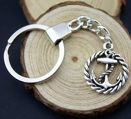 Anchor Rings For Girls Australia - 6 Pieces Key Chain Women Key Rings Car Keychain For Keys Anchor 26x21mm