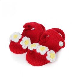 Crochet Baby Footwear Australia - footwear breathable Crib Cute Shoes shoes Knit Handmade Girls Sock kids Crochet Woolen for Infant Baby children