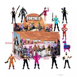 24 teile / satz Fortnite Llama Kunststoff Puppe spielzeug + karten 2018 Neue kinder 10 cm Cartoon spiel fortnite lama skeleton rolle Figur Spielzeug MMA939 12 los