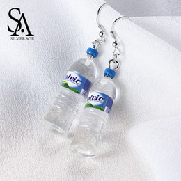 sa jewelry Canada - SA SILVERAGE 925 Sterling Silver Mineral Water Bottles Drop Earrings For Women Fine Jewelry Trendy Party Novelty Earring 2018Y1882903