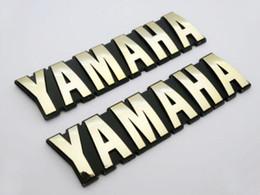 Etiqueta engomada del emblema de la etiqueta del emblema de la insignia del tanque de combustible del ABS 125mm de la motocicleta 3D para el conjunto de Yamaha