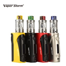 electronic cigarette full mod UK - Electronic Cigarette Box Mod 75W Storm75 OLED Vape 0.3ohm 2ML Vesta Atomizer TC Vaporizer E Cigarette Full Kit Without Battery