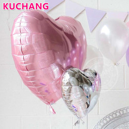1st balloons online shopping - Party inch Silver Number inch Heart Star Foil Latex Balloons Baby Shower Girl S st Anniversary Birthday Party Decor