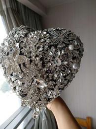 $enCountryForm.capitalKeyWord UK - High-end custom continental heart-shaped wedding bouquet DIY jewelry brooch pearl silk rose bridal bouquet
