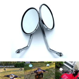 end handlebar UK - For 1Pair Motorcycle Rearview Mirrors Motorcycle Side Foadable Handlebar Aluminum Motor End Motor Side Mirrors MotorAccessories