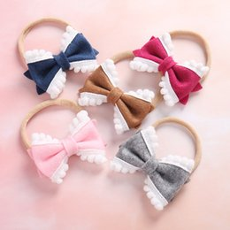 Babies Hair Wearing Headbands Australia - 20pcs lot free shipping Baby Girl's hair band Birthday Gift Soft Big Bow Fashion Headband Holiday Wear accessories