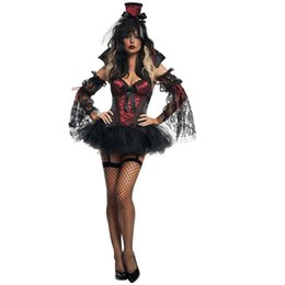 Gothic Woman Costumes UK - Vampire Costume for Women Gothic Halloween Costumes for Women Carnival Costume Fancy Dress