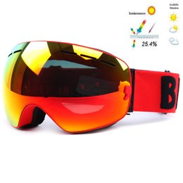6356c8cfe7c Camadas duplas Óculos De Esqui UV400 Anti-fog Grande Lente Máscara De Esqui  Óculos de Esqui Snowboard Snowboard Óculos de Revestimento de Espelho