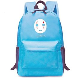 289f2dca4eef Spirited Away backpack Mr no face school bag Cartoon daypack Leisure  schoolbag Outdoor rucksack Sport day pack