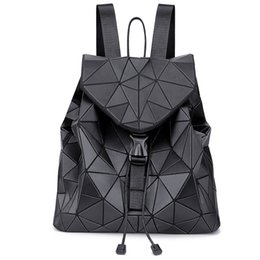 $enCountryForm.capitalKeyWord UK - PU shoulder bag Lingge Japanese fashion trend wild new computer travel bag girl simple geometric backpack