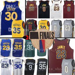 c4184ba23 23 LeBron James 30 Stephen Curry 35 Kevin Durant 0 Kevin Love 5 JR Smith  Jersey 23 Draymond Green 11 Klay Thompson 9 Andre lguodala jr basketball for  sale