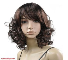 deep curly wavy hair 2019 - New Fashion Short Brown Wavy Curly Women's Lady Cosplay Hair Wig Wigs discount deep curly wavy hair