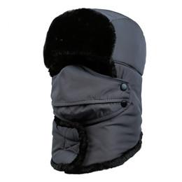 Men Cotton Winter Face Mask NZ - New Winter Windproof Thick Warm Hat Winter Snow Outdoor Large Women Men Cap Face Mask Earmuffs Full Cover Dursable Cap