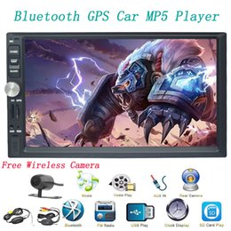 mirror speakers NZ - 7'' Car stereo Bluetooth Doubel Din Head Unit Car Stereo MP5 player Car Radio audio GPS Navigation Mirror Link FM AM USB TF