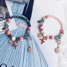 $enCountryForm.capitalKeyWord NZ - Bohemia Pink Cute Deer Bracelets For Women Jewelry Bow-Knot Pendant chain link Bracelet for Girl Gift bracelets best friends
