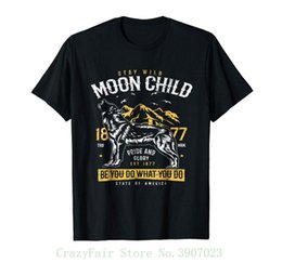 Wild Child Clothing NZ - Moon Child Shirt - Stay Wild Moon Child T Shirt Tee Shirt Hipster Harajuku Brand Clothing T-shirt