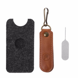 Chinese  Nano SIM Card Holder With Eject Pin Micro SD TF Memory Card Case Storage Bag manufacturers