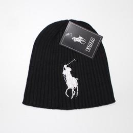 Cappelli a maglia delle donne online-2018 New polo Mens Womens skullies  berretto invernale cappello 01f976a72ca6